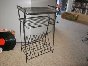 Black Metal Record Stand For Sale