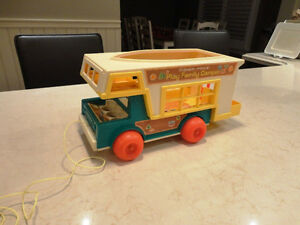 Vintage early 70's Fisher Price Play Family Camper #994 2 Pc.