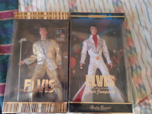 TWO BEAUTIFUL ELVIS BARBIE DOLLS