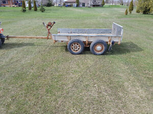 4 x 8 flat bed utility trailer