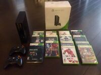 Nearly brand new 250 GB Xbox 360, 16 Games, 2 Controllers
