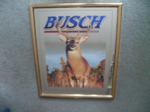 Mancave Busch Beer Deer Mirror