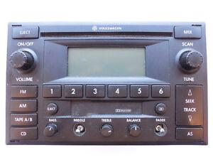 VW Jetta Golf 2000-2006 Premium 6 Radio CD Cassette 1JM035157J