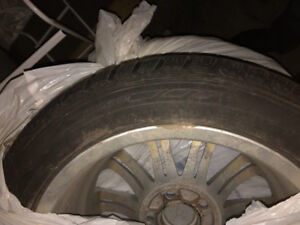 4 * Winter tires 225/50R17 on rims, almost new, used one season