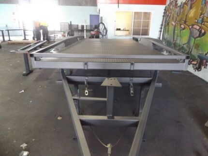 SPECIAL! TILTING 15FT 2.9TON HEAVY DUTY CAR TRAILER WITH RAILINGS