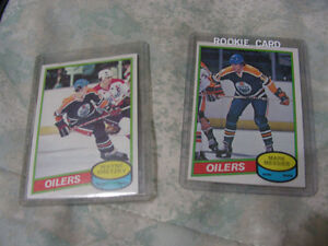 Messier Rookie / Gretzky 2nd Year Hockey Cards