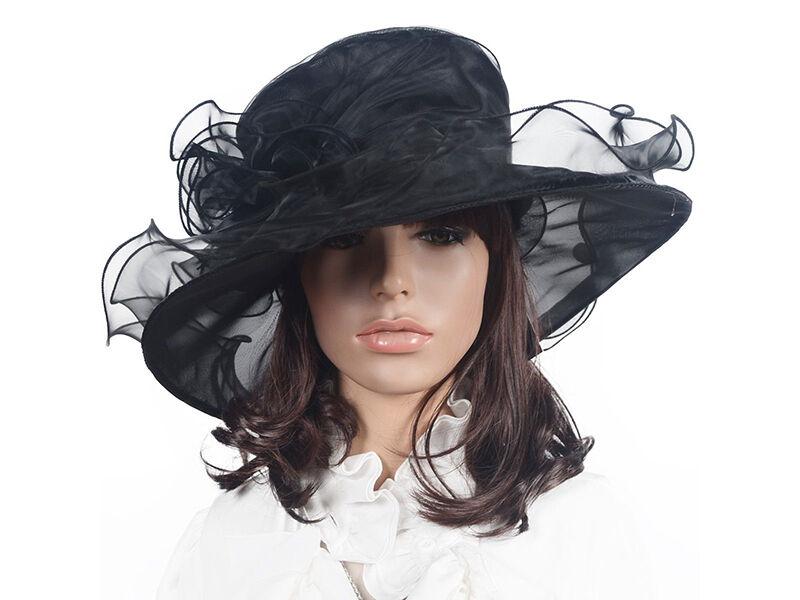 Brimmed Organza Hat