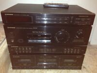 Pioneer stereo double cassette deck system
