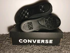 Converse size 11, brand new, unworn trainers, black