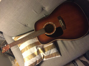 Left-Handed Acoustic Guitar w/ Stand