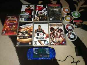 Sony psp and 13 games