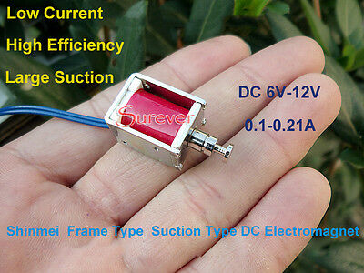 Dc 6v-12v Push Pull Suction Type Micro Dc Solenoid Electromagnet Micro Solenoid