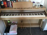 Roland digital piano with stool