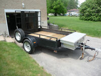 GOOD HEAVY DUTY TRAILER WITH FOLD DOWN RAMP !!!!!!!!!