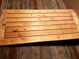 Madawaska pine entry door or barn door