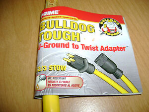 15A Adapter - Regular Extension Cord to Twist Style London Ontario image 4