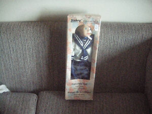 Porcelein Boy Doll in Blue Outfit
