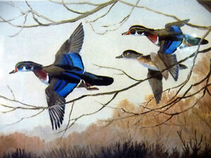 "Hand Signed and Numbered, Maynard Reece ""Wood Ducks"" Lithograph Stratford Kitchener Area image 9"