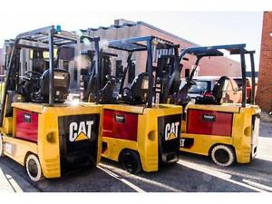 "2014 CATERPILLAR FORKLIFT ELECTRIC 3STAGE MAST(189"" HIGH)  AND GOOD RUNNER FULLY RECONDITION AND VERY WELL MAINTAINED"