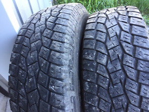 2x LT 245/70R17 10ply Toyo Open country A/T