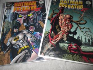 Batman VS Predator II DC Comic Pair