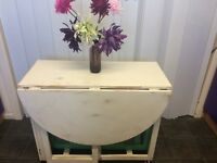 Beautiful shabby chic style space saving folding table and chairs