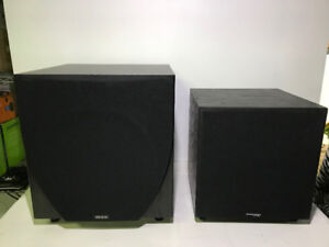 "AS-IS 2 POWERED 12"" SUBWOOFERS TO FIX OR PARTS - MNX"