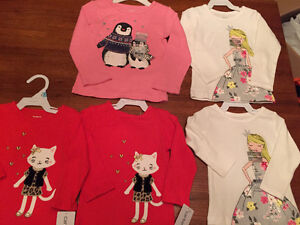 New! Carters long sleeve shirts. Size 6,9,18 and 24 mths Kitchener / Waterloo Kitchener Area image 1