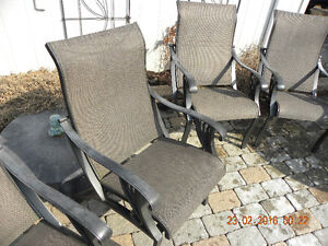 4 Dot Cast Aluminum sling chairs