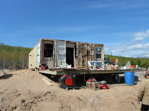 Three Modified Shipping Containers turned into Cabin!