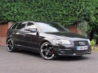 Audi A3 2.0 TDI BLACK EDITION S LINE SPORTBACK 140PS, BLACK, DIESEL, MANUAL