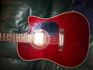 Takamine electro acoustic guitar EG-530C cherry red
