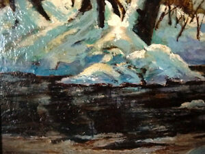 """Early Spring Landscape by T. Callaghan """"Spring Patterns"""", 1960's Stratford Kitchener Area image 6"""