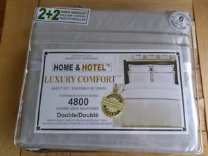 Draps pour lit double