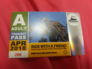 buss pass month of april unlimited ride