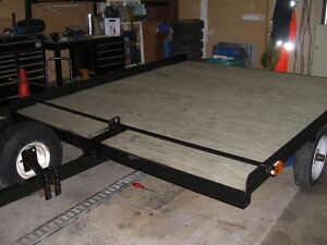 7 FT X 8 FT TILT DECK SLED TRAILER---GREAT CONDTION