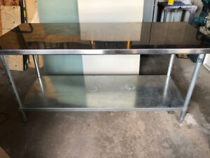 72x30 Stainless steel work table with under shelf