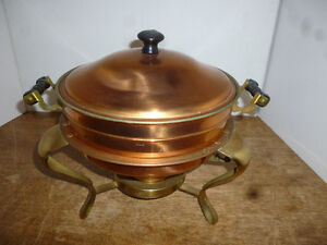 Copper and Brass Chafing Dish