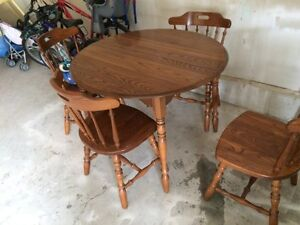 Table, 4 chairs