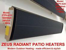 ZEUS RADIANT PATIO HEATER SLIMLINE OUTDOOR STRIP PANEL HEATERS Pascoe Vale Moreland Area Preview