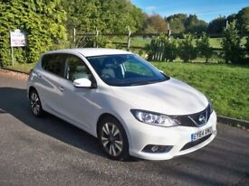 Nissan Pulsar 1.5 DCI TEKNA ZERO ROAD TAX FULL MAIN DEALER HISTORY LEATHER AND SAT NAV (white) 2014