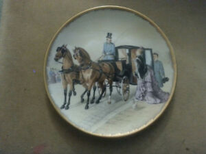 "Limoges Collector Plate ""Chevaux Anglo Normands"""