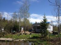 12.8 acres with cabin in northern Ontario