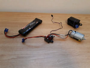 Brushed motor with esc, battery, and charger
