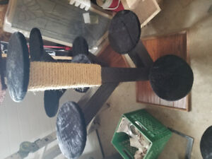 Cat scratching post tree hand out