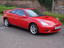 EXCELLENT EXAMPLE!!! RED 2004 TOYOTA CELICA 1.8 VVT-I 140 3 DR, 1 YEAR MOT,