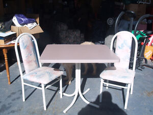 Dinette Table and Two Chairs