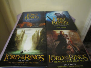 4 BOOKS LORD OF THE RINGS 3 HARDCOVER 1 SOFTCOVER