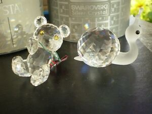 "Swarovski Crystal Figurines -"" Large Snail "" and "" Kris Bear "" Kitchener / Waterloo Kitchener Area image 2"