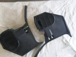 Chevrolet SS front kick panels black